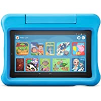 """All-new Fire 7 Kids Edition Tablet   7"""" Display, 16 GB, Blue Kid-Proof Case"""