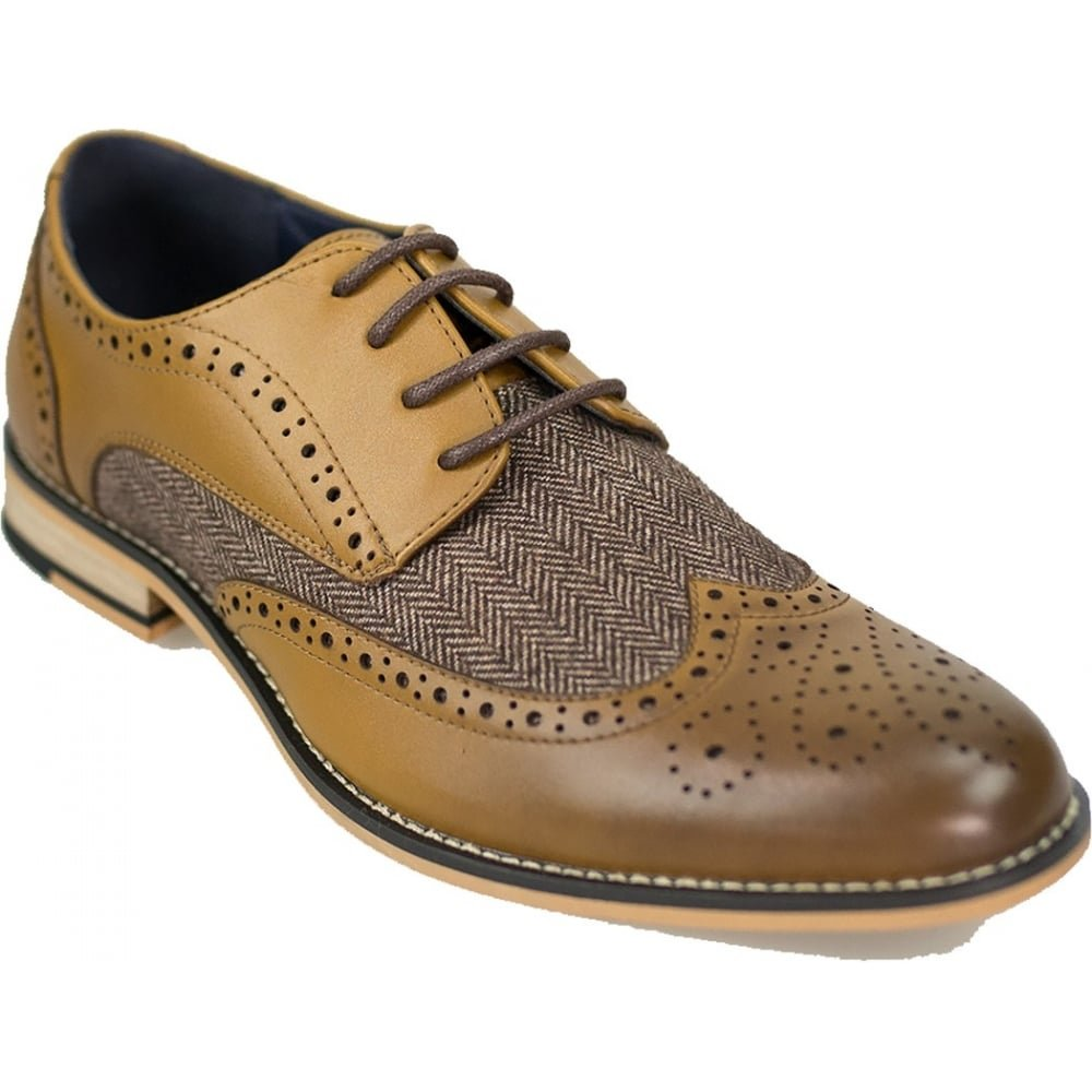 Cavani Horatio Real Leather Tan Gatesby Brogues Casual Designer Retro  Shoes  Amazon.co.uk  Shoes   Bags a8a070ff1