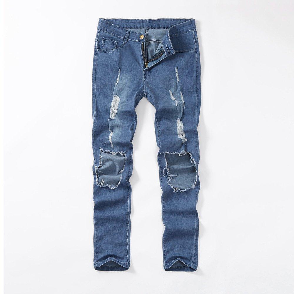 d121c14d8a42 Pantalones Vaqueros Ajustados Pitillo para Hombre Pantalones ...