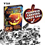 Pumpkin Punchers - Pumpkin Carving Kit For Kids - Pumpkin Carving Tools - Pumpkin Carving Stencils - Pumpkin Carving Kit Stencils - Pumpkin Carver Kit - Safe Pumpkin Tools - 2.0 Version (31 Pieces)