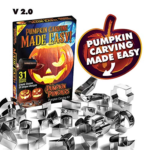 Pumpkin Punchers - Pumpkin Carving Kit For Kids - Pumpkin Carving Tools - Pumpkin Carving Stencils - Pumpkin Carving Kit Stencils - Pumpkin Carver Kit - Safe Pumpkin Tools -