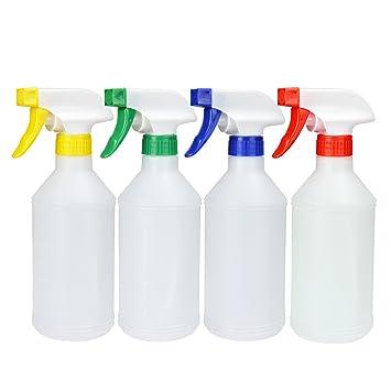 4pcs 17 oz multiusos a prueba de fugas de plástico botellas de pulverización en seco resistente