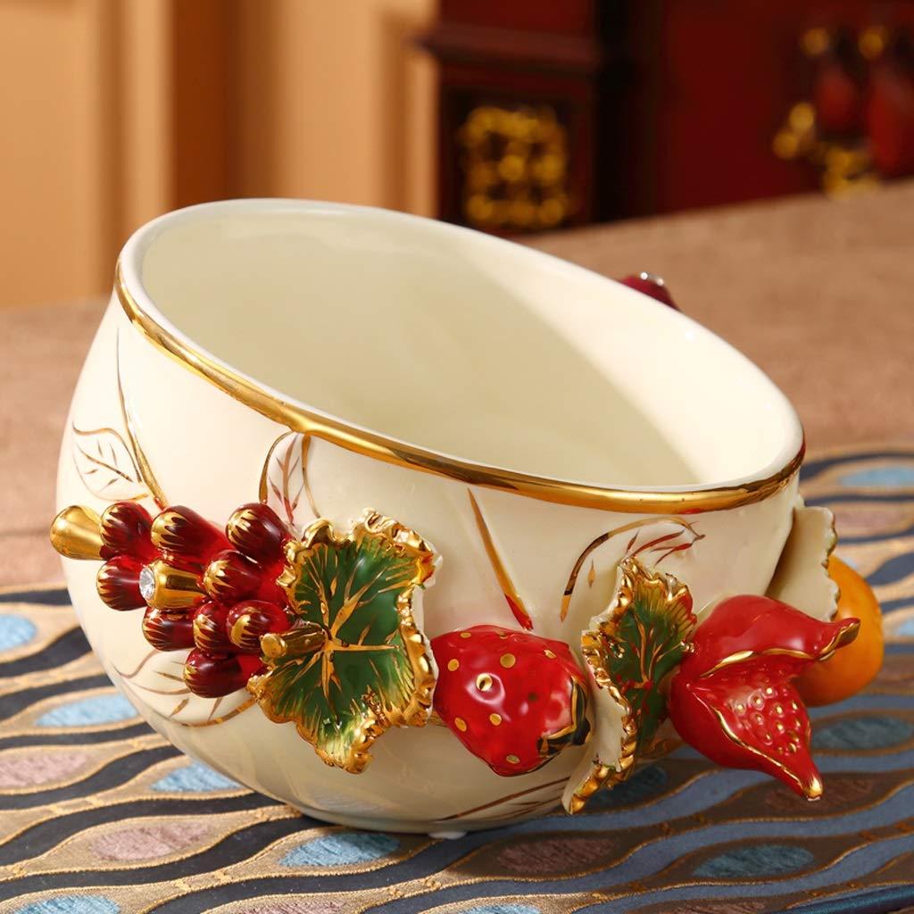 Aufbewahren & Ordnen NFSQ Luxus Hause Wohnzimmer Couchtisch Desktop Mülleimer Europäischen Keramikschale Müll Schüssel Kleine Speichereimer