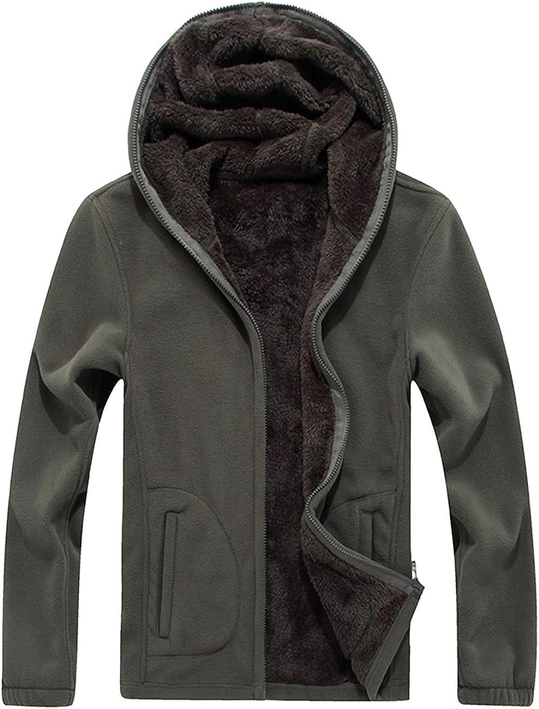 Gihuo Womens Sherpa Fleece Lined Hoodie Zip Up Hooded Sweatshirt Jacket