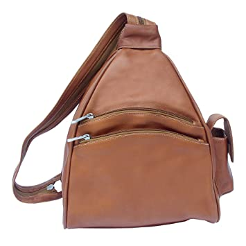 Amazon.com | Piel Leather Two-Pocket Sling, Saddle, One Size | Casual Daypacks