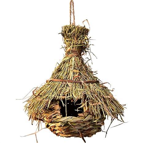 Hergon Nido de pájaros de Hierba Natural, para Colgar al Aire ...