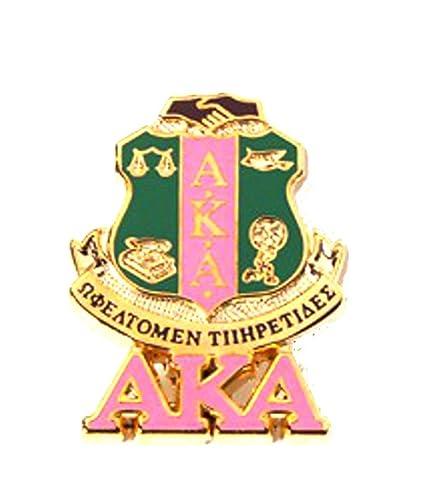Amazon Alpha Kappa Alpha Sorority Greek Letter Shield Aka Lapel