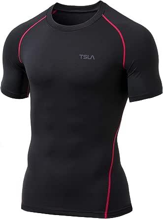 Tesla Men's Thermal Wintergear Compression Baselayer Short Sleeve Shirt