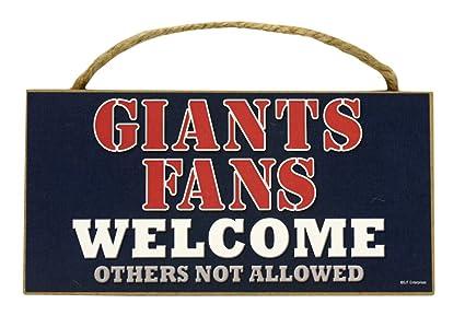 New York Giants Ave Sports Mem, Cards & Fan Shop Sign