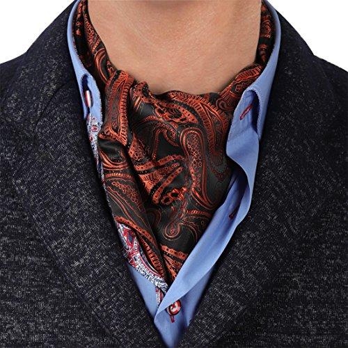 ERA7B02 Comfort Gift Silk Mens Ascot Patterned Young Gentlemen Cravat By Epoint