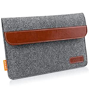 DTTO 7-8 Inch Tablet Sleeve Bag Portable Protective Sleeve Case Cover [Shock Resistant] with Accessory Pocket for iPad Mini 4/3/2/1, Samsung Galaxy Tab S2 8-Inch, Tab A 8-Inch - Dark Gray