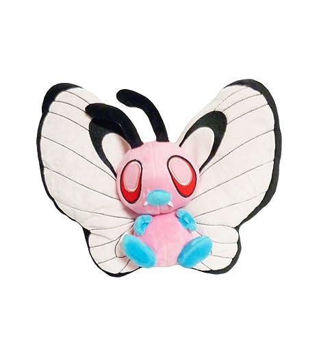 amazon com pokemon 10 inch pink bye bye butterfree plush toy doll