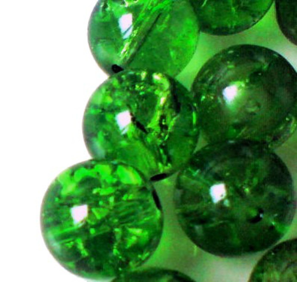 100 pieces 6mm Crackle Glass Beads - Emerald Green - A1617 k2-accessories