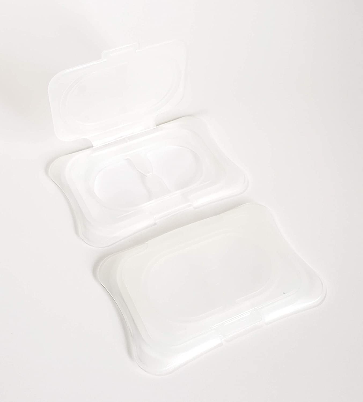 Easy Opening Single Sheet Dispenser Reusable Blue Keeps Baby /& Beauty Wipes Fresh /& Moist Pack of 2 Eco-Friendly Wipe Cap