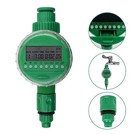 ZREAL LCD de Temporizador de riego Manguera de Detector de Agua de Programa de riego de
