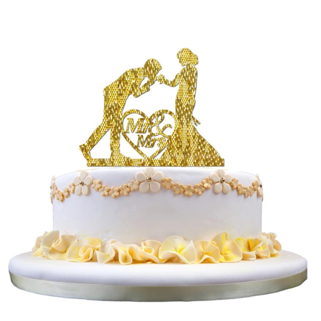 Amazon.com: Acrylic Wedding Cake Topper Insert Card Love Groom and ...