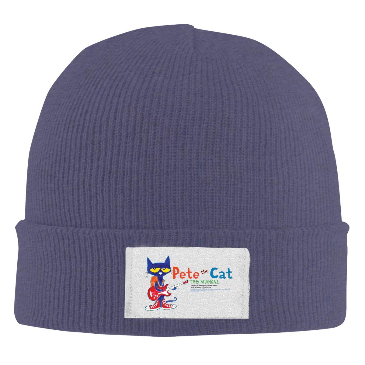Unisex Stylish Slouch Beanie Hats Black Pete Cat Top Level Beanie Men Women