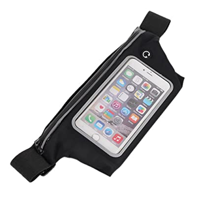 6'' Phone Running Belt Waist Pack with Fingerprint ID Access Designed for Jogging Fitness Gym Workouts
