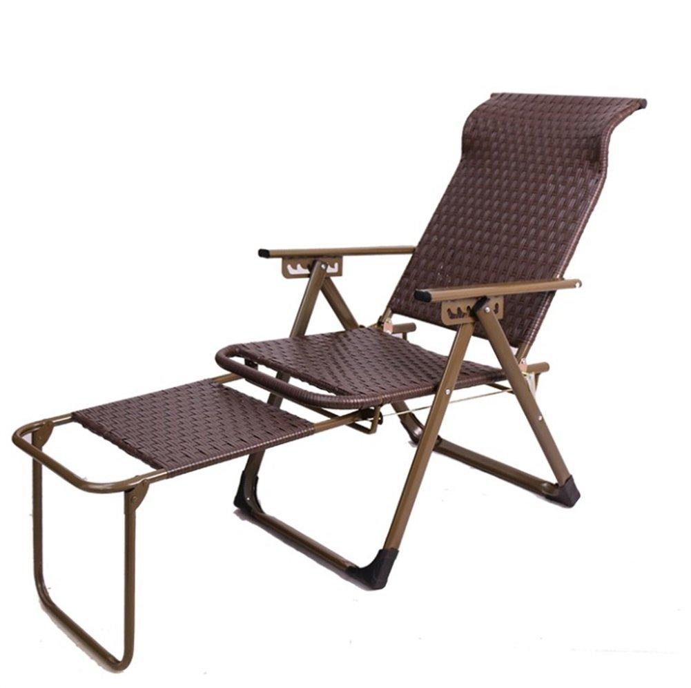 ZXH Folding Recliner Mittagspause Stuhl Lazy Stuhl Büro Strand Outdoor Home Freizeit Stuhl