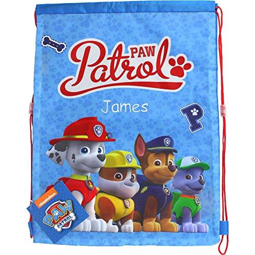 Personalized PAW Patrol Drawstring School Sports Gym Bag