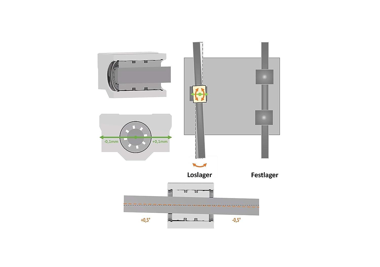 Anycubic i3 Mega et 4x igus RJ4JP-01-08 Prusa i3 RepRap 4x ruthex RJ4JR-03-08 palier fixe palier lisse palier lisse au lieu du palier LM8UU pour imprimante 3D Anet A8 A6