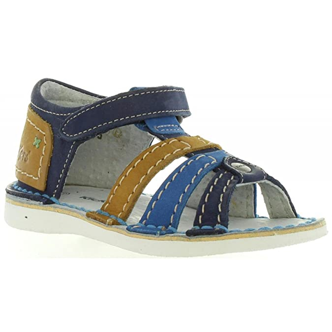 Sandales pour Garçon et Fille KICKERS 018367-10 WOOPY 103 MARINE CAMEL gO1Ak1