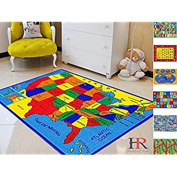 Amazon Com Kids Educational United States Rug 6 6 Quot X 8 4