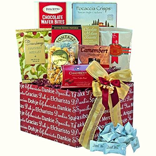 Lift Off Presentation Box (Many, Many Thanks Gourmet Food Care Package Gift Box (Chocolate Option))