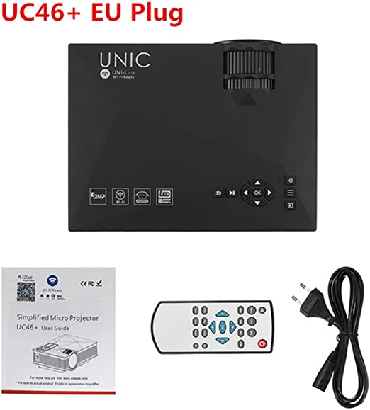 Morza Unic UC46 Multimedia Mini Proyector LED HD 1080P con la ...