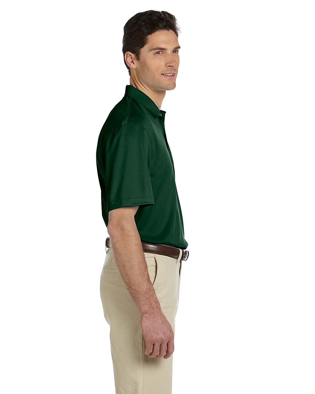 2XL DARK GREEN Harriton Mens Double Mesh Sport Shirt