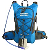 NORTHERN BROTHERS Lightweight Hydration Backpack Bladder Pack Daypack with 3 Liter/100 oz Reservoirs Water Bladder Bag