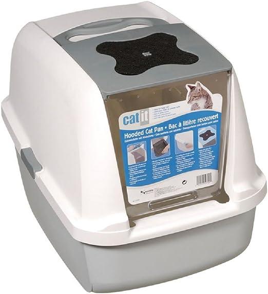 Caja de arena para gatos con 2 filtros de repuesto de FREE (gris ...