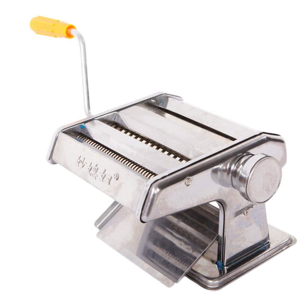 "Flagman_Shop New Pasta Maker & Roller Machine Noodle Spaghetti Maker Dual-Blade Silver 150mm 6"""