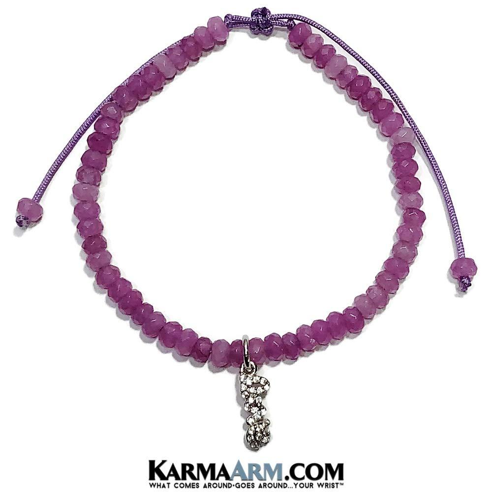 Love Bracelet Love Charm Purple Jade Adjustable Reiki Meditation Lucky Knot Bracelet Tiny Treasures