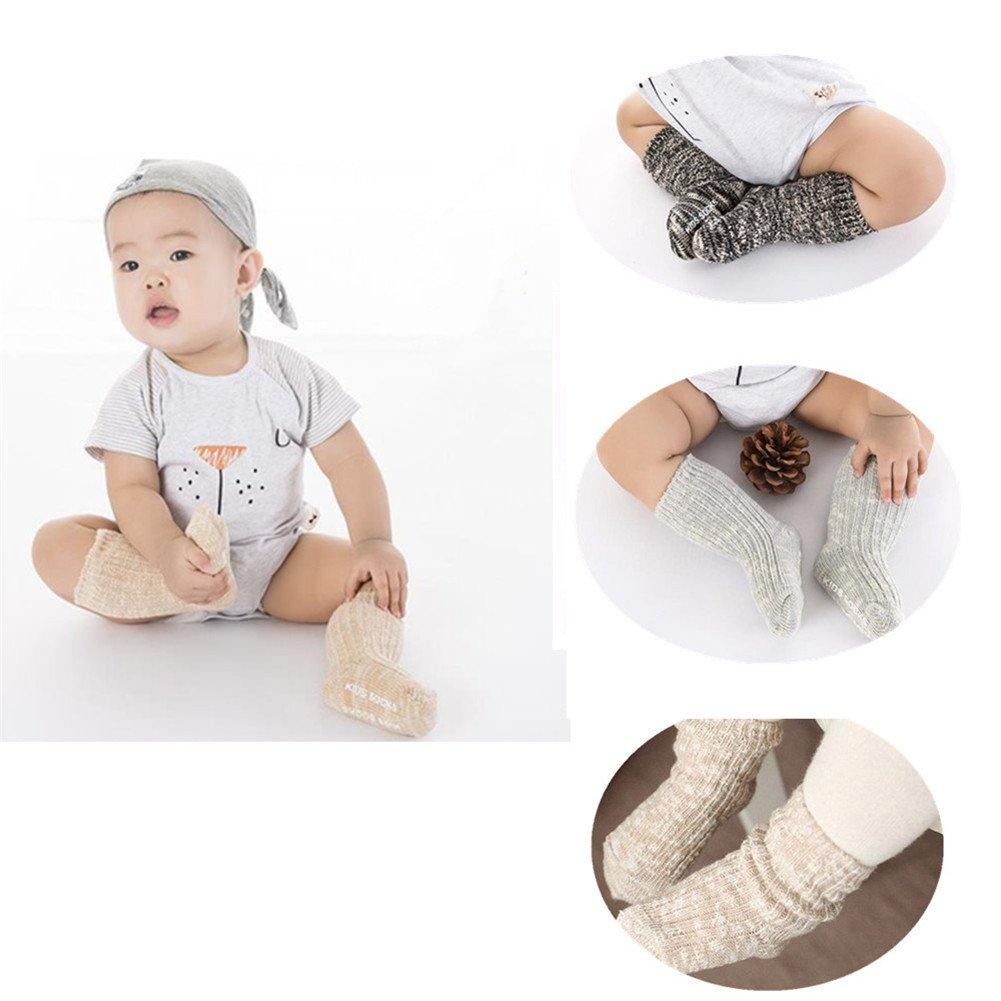 4 Pairs Treney Knitting Wool Babys Socks Childrens Floor Socks