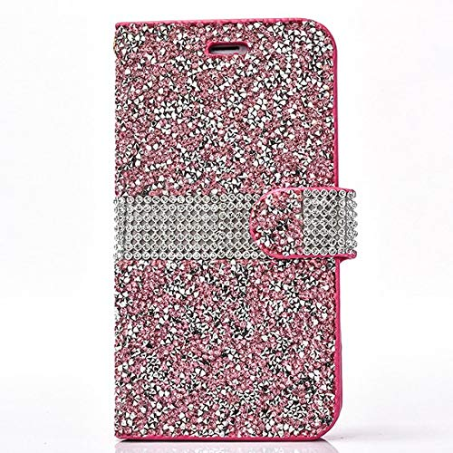 1 piece Diamond Flip PU leather case For iphone 6 s 7 8 plus funda hoesje bling rhinestone wallet cover for iphone x coque etui kryt tok