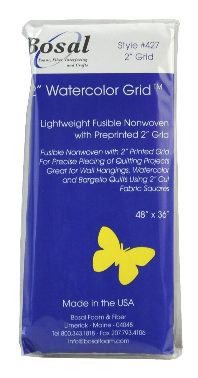 48 by 36-Inch Belagio Enterprises Bosal-427 2-Inch Watercolor Grid Fusible Decorating Supplies