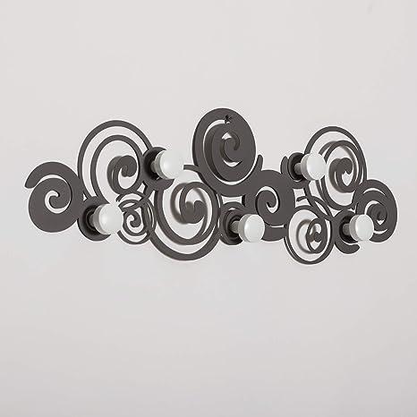 Attaccapanni Design Muro.Arti E Mestieri Appendiabiti Da Parete Mod Orfeo Design Colore Fango