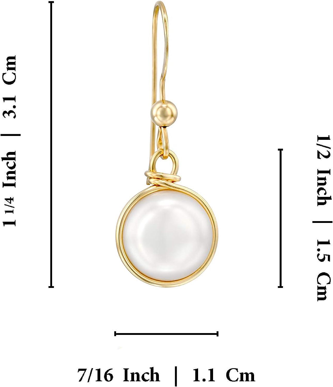 Boucles doreilles 14k or rempli Avec 10 mm perles de culture Bijoux de mariage ou pour demoiselles dhonneur