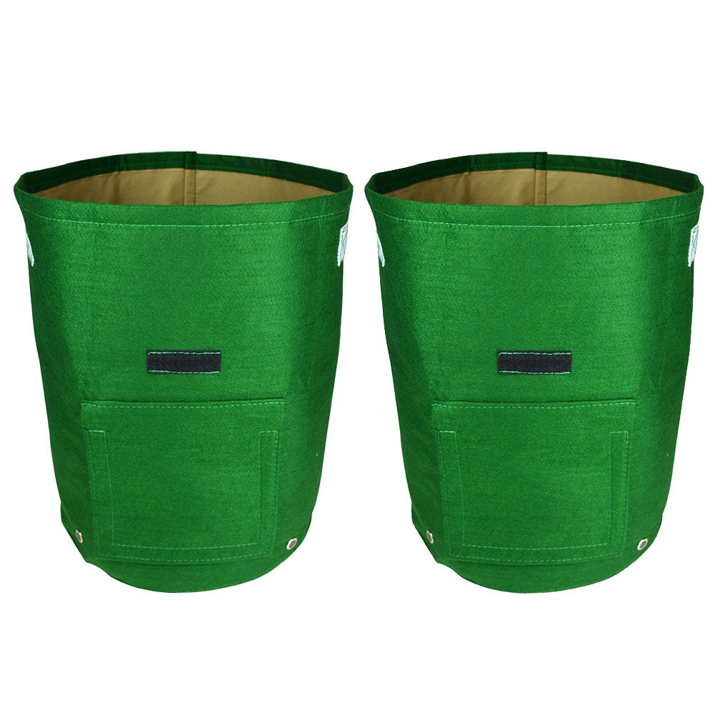 2Pcs Daul Layer Non-Woven Fabrics Potato Tub Grow Potatoes Patio Recycled Growing Bag
