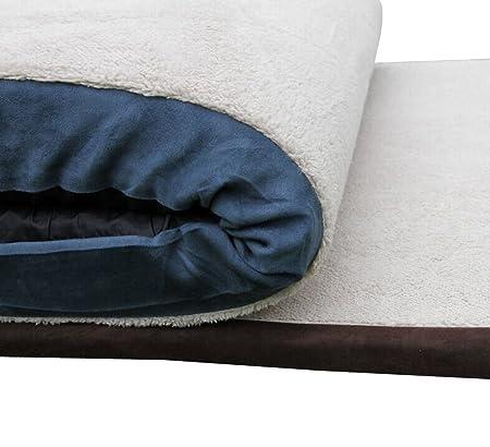 Micat® Pet Felpudo pet cama nido perro mastín tibetano Caseta Perro (Tamaño Grande), diseño de Golden Satsuma más grueso anti Bite Cojín, Super Grande Super ...