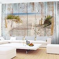 Fototapete Strand Holzoptik Vlies Wand Tapete Wohnzimmer Schlafzimmer Büro  Flur Dekoration Wandbilder XXL Moderne Wanddeko - 100% MADE IN GERMANY - ...