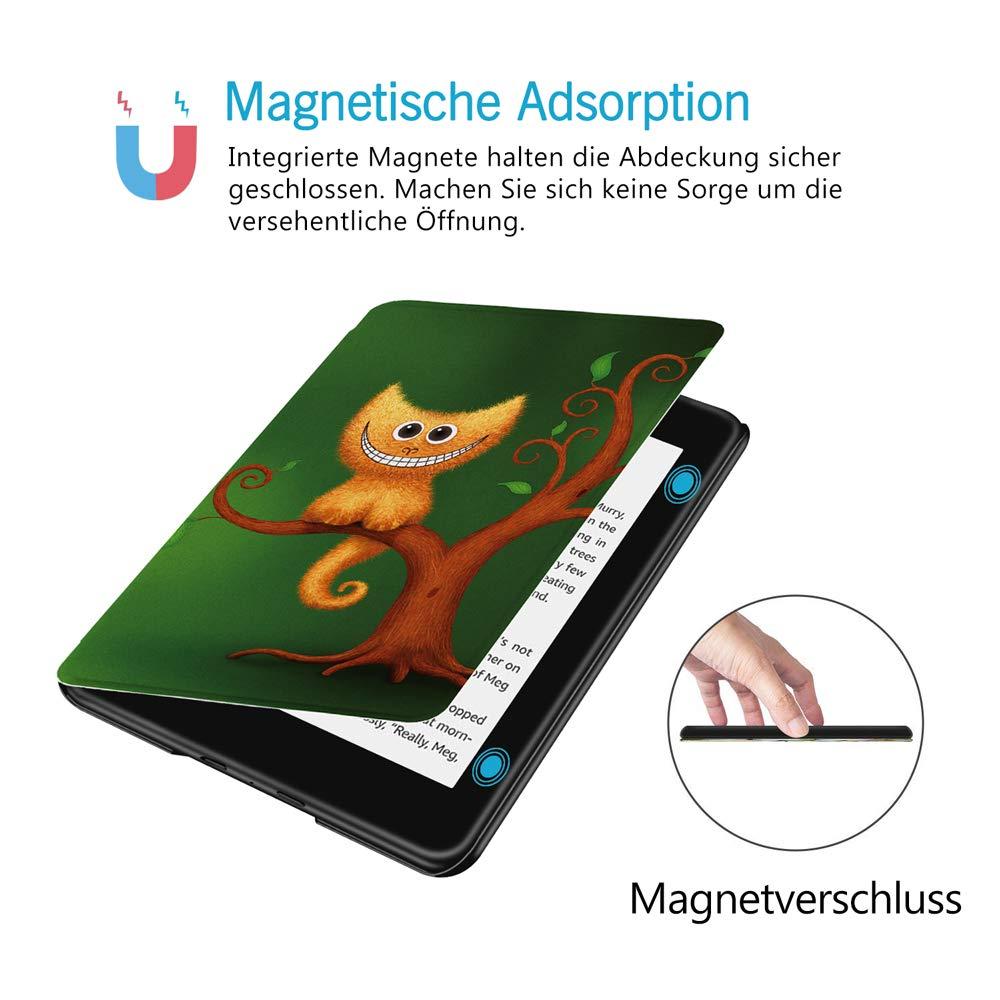 HUASIRU Pintura Caso Funda para Kindle Paperwhite 10./ª generaci/ón - Modelo de 2018 Nubes de Cielo