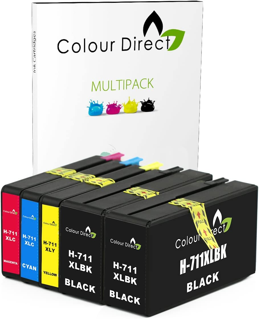 Colour Direct - 5 (1 Conjunto + 1 Negro) Compatible Cartuchos de ...