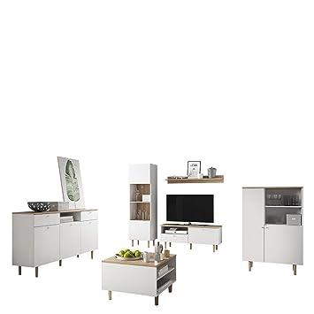 mirjan24 wohnzimmer loveli i wohnzimmer set im skandinavischen stil tv lowboard