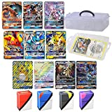 Totem World 10 Jumbo Pokemon Cards in Clear Collectors Storage Case - 1 Full Art Mega, 1 Mega EX, 3 GX and 5 EX Oversize Cards