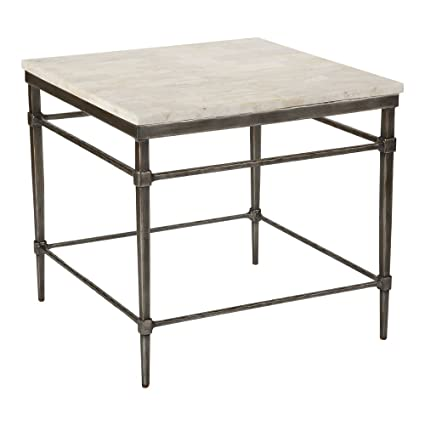 Amazon.com: Ethan Allen Vida Square Stone-Top End Table ...