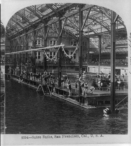 (Photo: Sutro Baths,San Francisco,California,CA,c1898,bathers,swim suits)