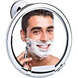 Fog Free Shower Bathroom Mirror, KEDSUM Fogless Shaving Mirror with Razor Holder, Strong Locking Suction, 360° Rotating No Fog for Easy Viewing (Silver)
