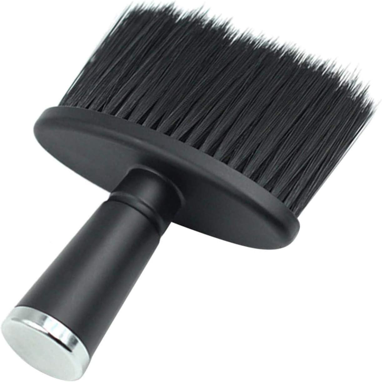 Cepillo de Mango para el Cuello Peluquerías Cepillo Barbero Profesional Suave Pelo Cepillo para Peluquería Tacto Suave Cepillo de Cuello Negro Cepillo para Corte de Cabello,peluquería de Salón (negro)
